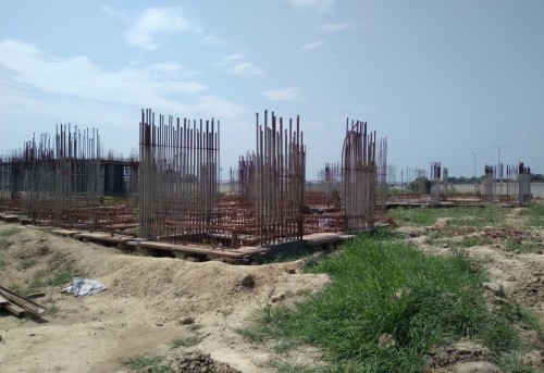 Non Teaching Staff Residence –  grade slab works in progress plinth beam casting  work in progress 09.09.2021.jpg