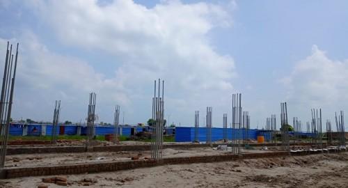 HVAC PLANT ROOM -  plinth beam steel works in progress 09.09.2021.jpg