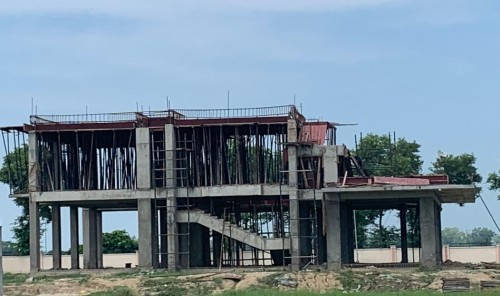 Director's residence – 1st floor slab shuttering  work completed steel work in progress  09.09.2021.jpg