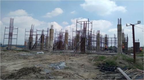 COMMUNITY CENTER – grade slab casting work in completed column casting work in progress  20.09.2021.jpg