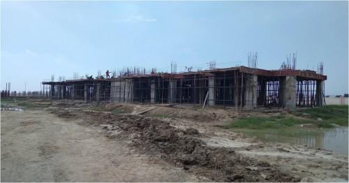 Professor's residence – grade slab work in progress slab casting work completed 20.09.2021.jpg