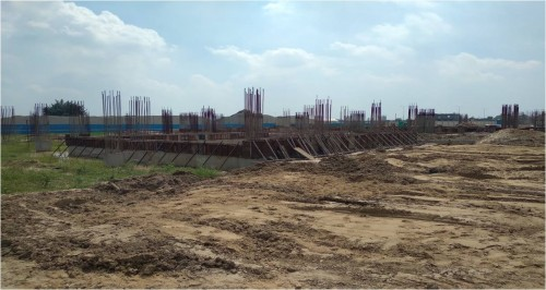 SPORTS COMPLEX –  grade slab steel work in progress plinth  beam casting  work in progress 20.09.2021.jpg