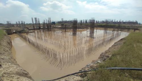 AUDITORIUM - RCC Shear Wall & Column casting work in progress & Dewatering work in progress 20.09.2021.png