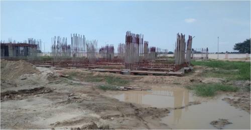 Non Teaching Staff Residence –  grade slab works in progress plinth beam casting  work in progress 20.09.2021.jpg