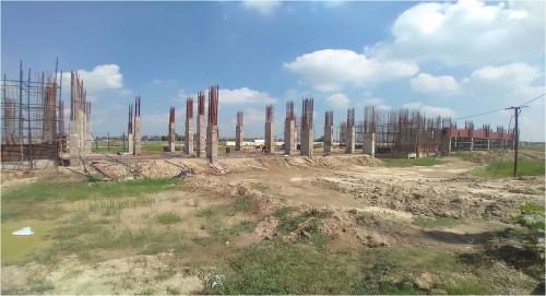 Faculty & Admin block – grade slab works in progress column casting work in progress 20.09.2021.jpg