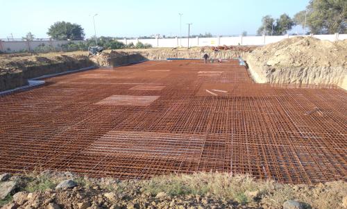 Hostel Block H1 – Steel placing & binding second layer work in progress (17-11-2020)