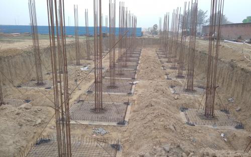 HVAC PLANT ROOM -  Footing steel work in progress 16.02.2021