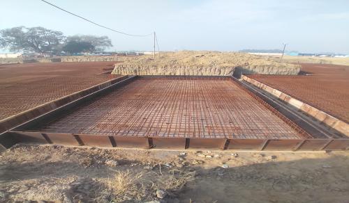 Hostel Block H6 – Steel placing & binding work – second layer work in progress -(08-12-2020)