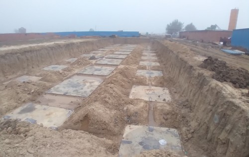 HVAC PLANT ROOM -  Footing PCC work completed & layout in progress 11.01.2021
