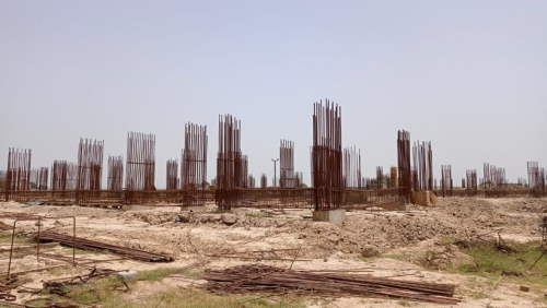 Faculty & Admin block –  soil filling work in completed grade slab works in progress 31.05.2021