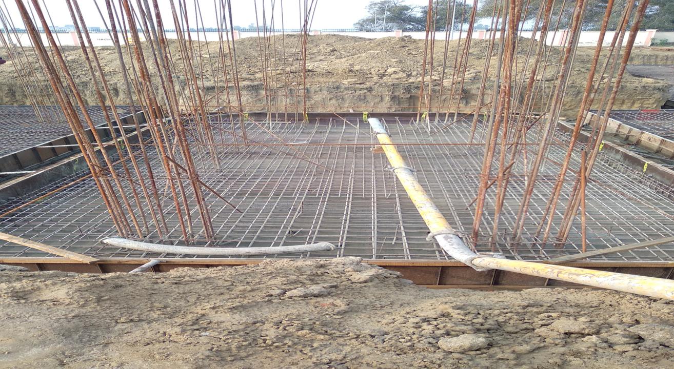 Hostel Block H2 – steel placing & binding in progress 05.01.2021