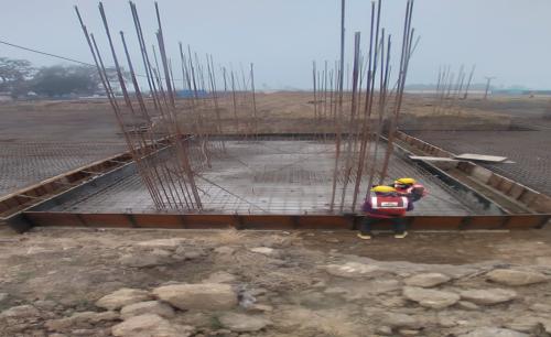 Hostel Block H6 – Steel placing & binding work – column work in progress  (28.12.2020)