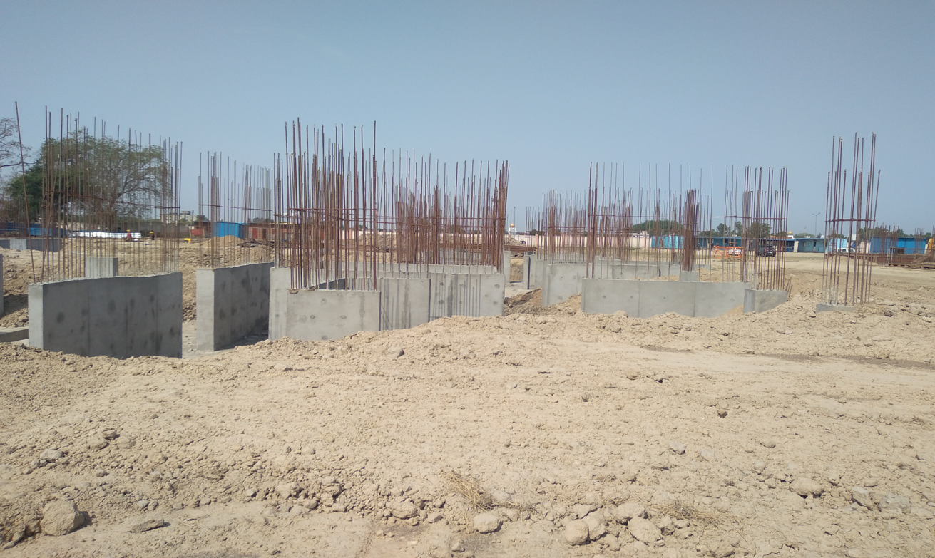 Hostel Block H7- column casting &shear wall work in completed 12.04.2021