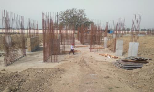 Hostel Block H3 – Raft RCC work completed column casting work in progress 15.03.2021
