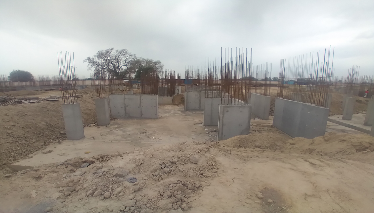Hostel Block H5 – Column casting work in completed 05.04.2021