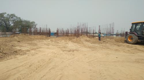 Hostel Block H5 – Column casting work in completed soil filling work in progress 04.05.2021