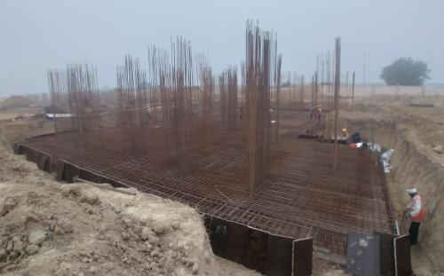 Non Teaching Staff Residence – steel placing & binding work in progress 11.01.2021