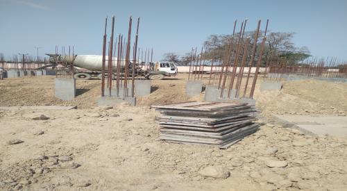 Hostel Block H2 –  column casting completed 12.04.2021