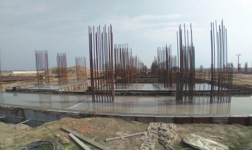 Faculty & Admin block –  Raft steel placing in completed RCC raft work in progress 23.02.2021
