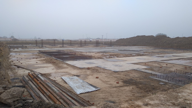 LIBRARY- Footing steel work in progress - (14-12-2020)