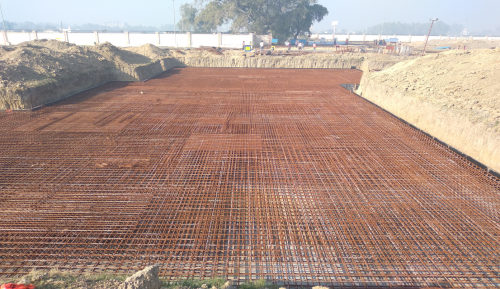 Hostel Block H3 – steel placing & binding second layer in progress (01-12-2020)