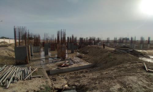 Associate Professors Residence –  Steel work in progress column casting work in progress 22.03.2021