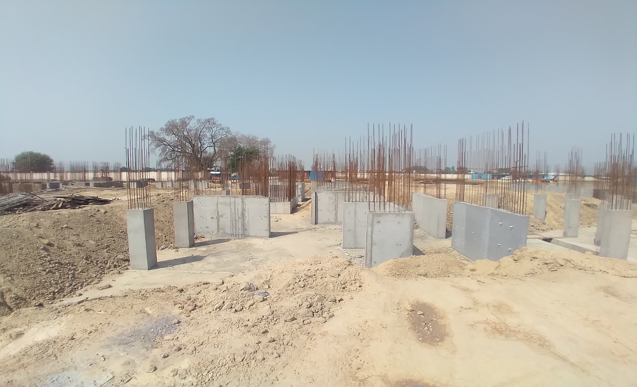 Hostel Block H5 – Column casting work in completed 30.03.2021