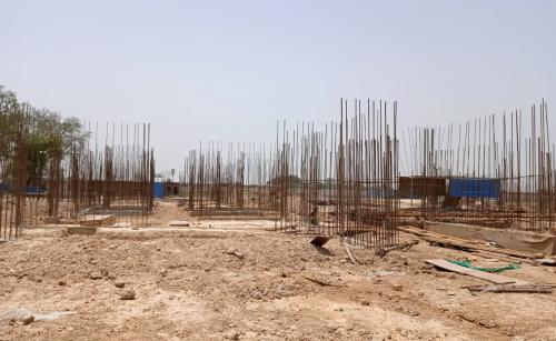 Hostel Block H5 – Column casting work in completed soil filling work in completed 31.05.2021