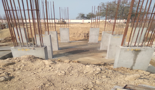 Hostel Block H2 –  column casting completed 09.03.2021