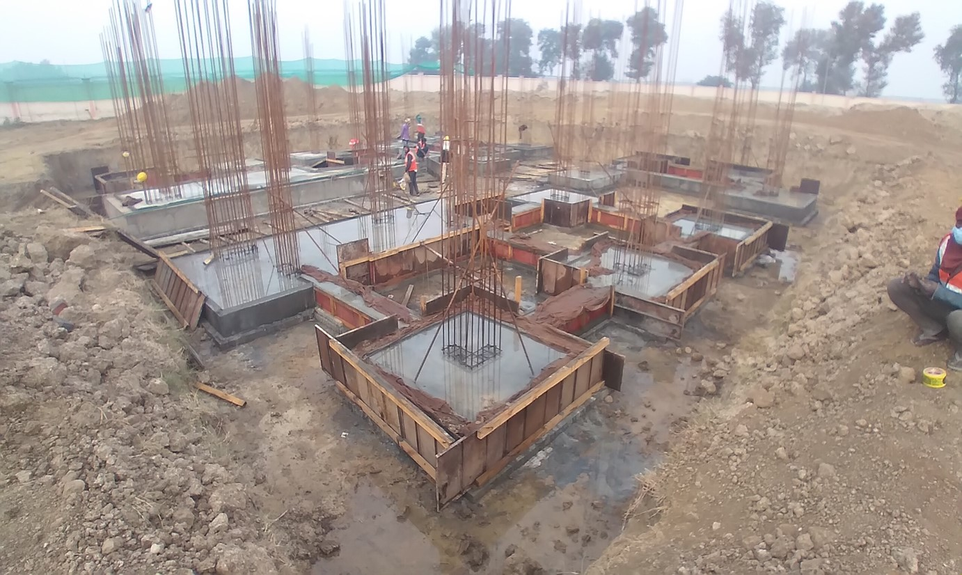 Director's residence – footing RCC work Completed (28.12.2020)