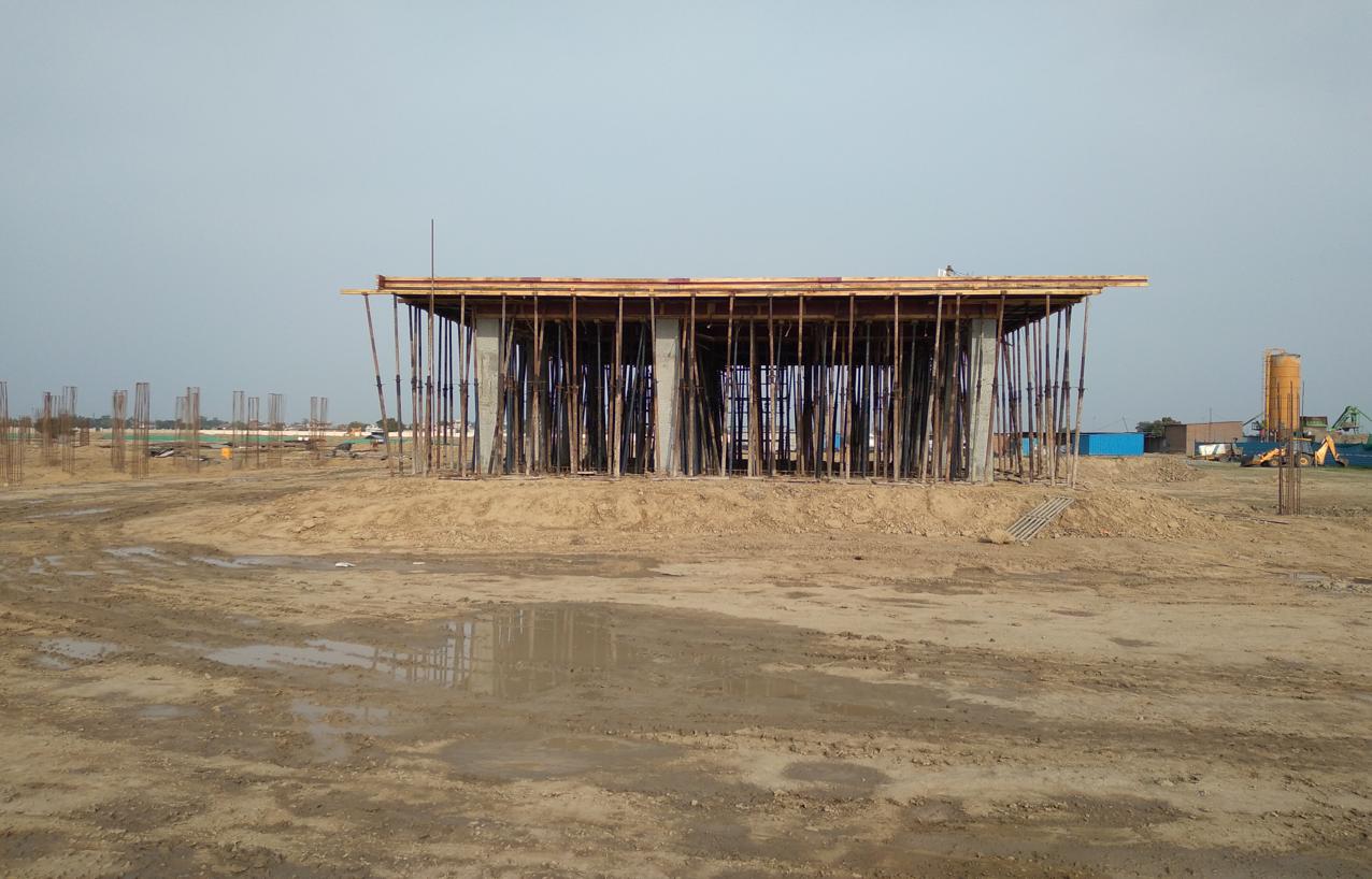 COMMAND CENTER –column casting work in completed slab shuttering work in progress 22.03.2021