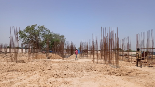 Hostel Block H5 – Column casting work in completed soil filling work in completed 17.05.2021