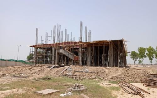 Director's residence – Column casting  work in completed slab shuttering work in progress 31.05.2021