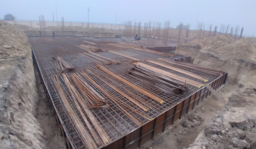 Associate Professors Residence – Raft steel placing in second layer completed 11.01.2021