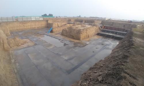 AUDITORIUM  –  Footing PCC work  in progress 05.1.2021
