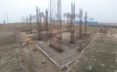 INCUBATION – Footing steel work in progress layout in progress 16.02.2021