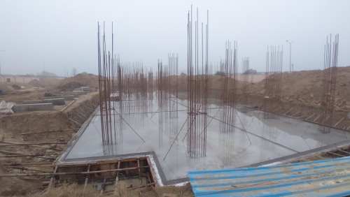 Professor's residence – Raft RCC work Completed 11.01.2021