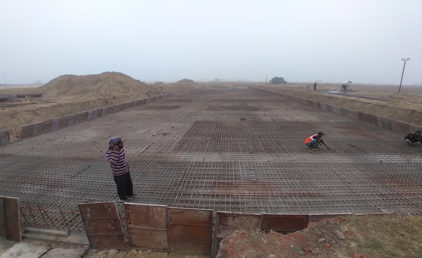 Faculty & Admin block –  Raft steel placing in progress - (14-12-2020)
