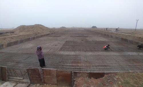 Faculty & Admin block –  Raft steel placing in progress - (14-12-2020)
