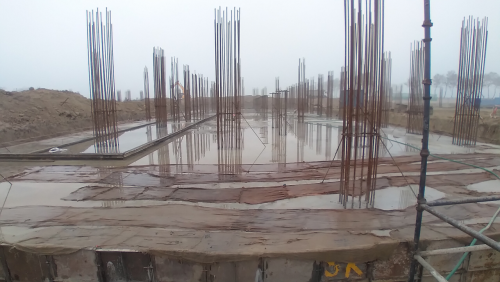 Academic block – 1st pit RCC raft work in Completed 16.02.2021