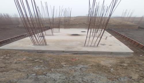 Hostel Block H4 – Raft RCC work Completed 18.01.2021