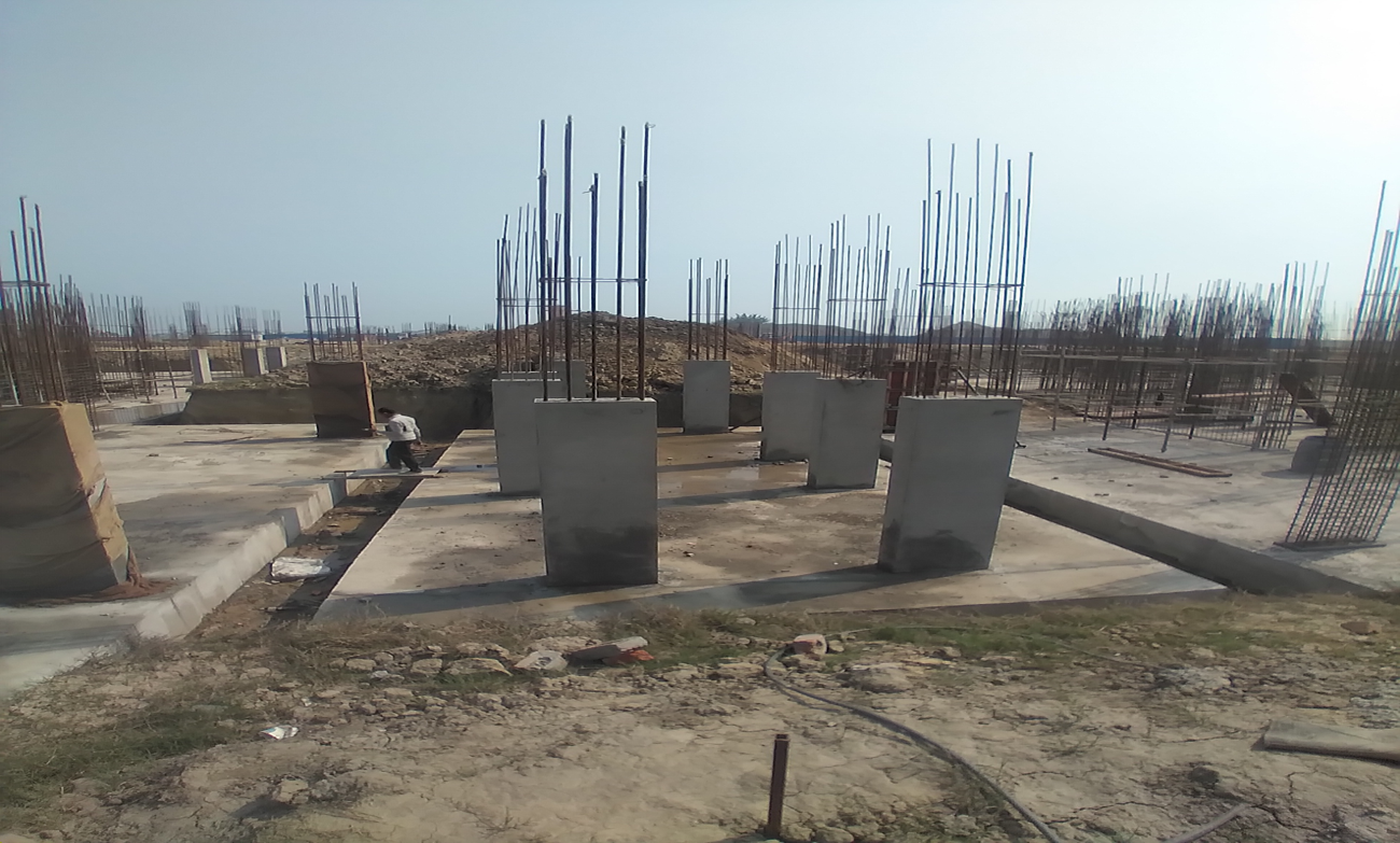 Hostel Block H4 – column casting work in Completed 01.03.2021