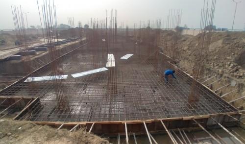 Professor's residence – steel placing & binding and column work in progress 05.01.2021