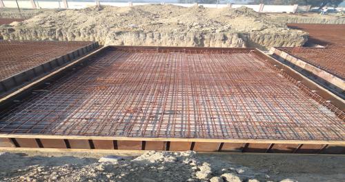 Hostel Block H2 – steel placing & binding in progress (01-12-2020)