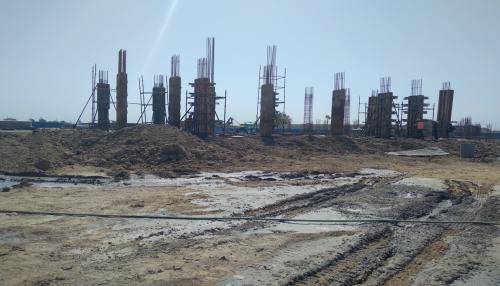 HEALTH CENTRE- slab column casting work in progress 19.04.2021