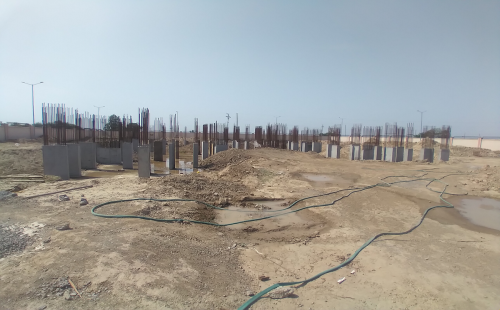Associate Professors Residence – column casting work in completed 12.04.2021