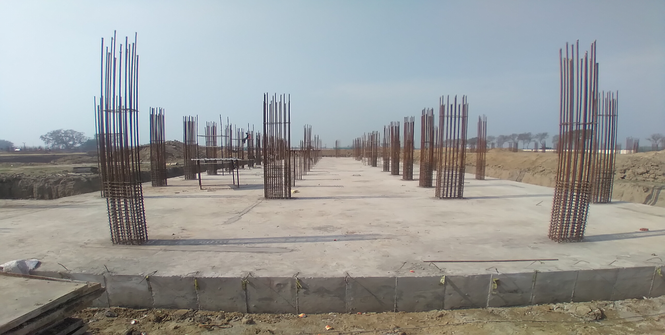 Academic block – 2nd pit RCC raft work in completed layout in progress 23.02.2021