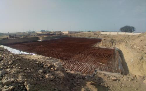 Non Teaching Staff Residence – steel placing & binding work in progress -(08-12-2020)