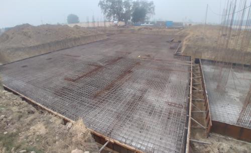 Hostel Block H5 – steel placing & binding work second layer in progress (28.12.2020)