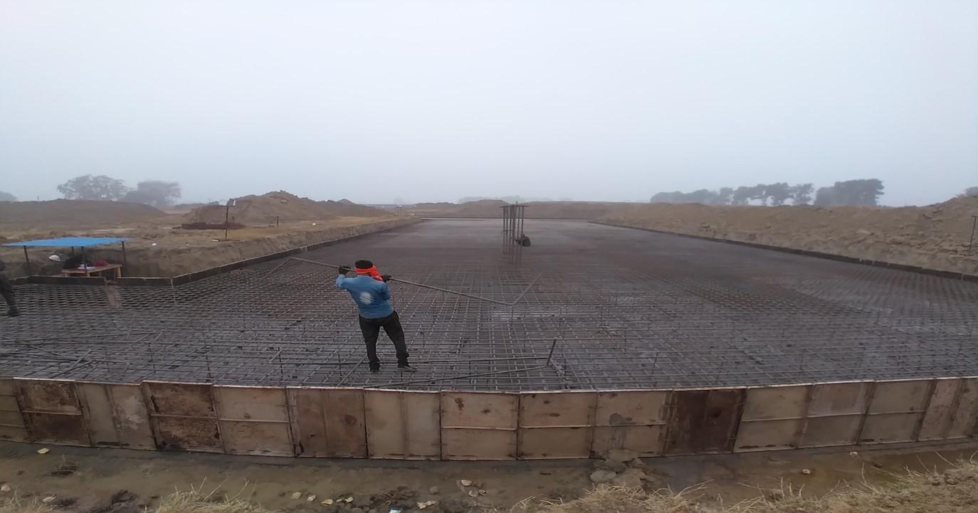 Academic block – 2nd pit steel work in progress - (14-12-2020)